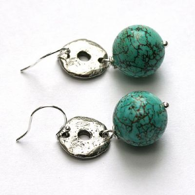 turquoise-pewter-disc-earrings-779-400